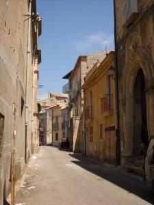 Uno scorcio del centro storico di Drapia