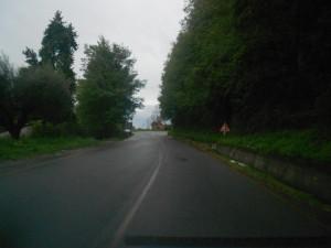 Un tratto della Via dei Pioppi