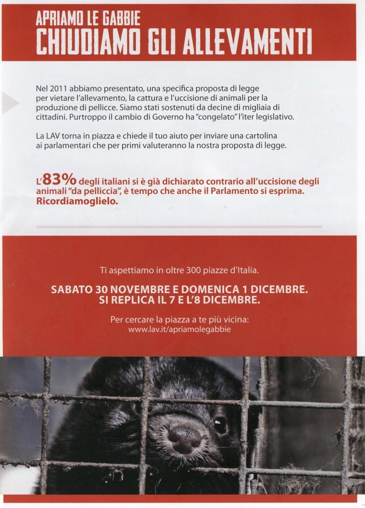 LAV - Volantino campagna contro pellicce lato B
