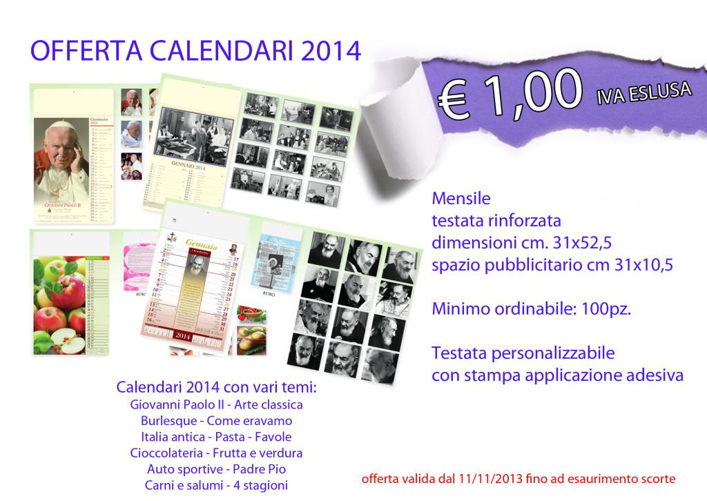 offerta calendari 2014