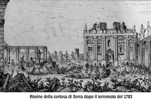 Certosa di Serra distrutta nel 1783