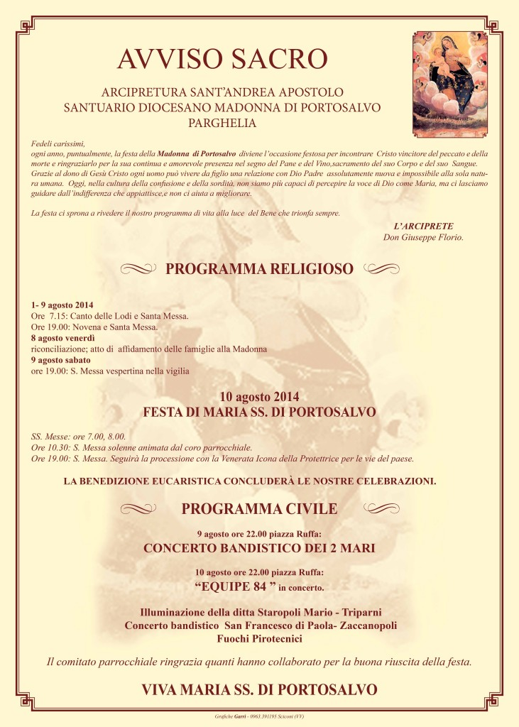 manifesto parghelia 2014