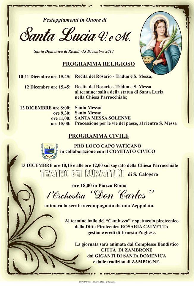 santa lucia santa domenica