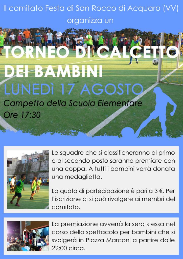 San Rocco di Acquaro (VV) - Torneo dei bambini