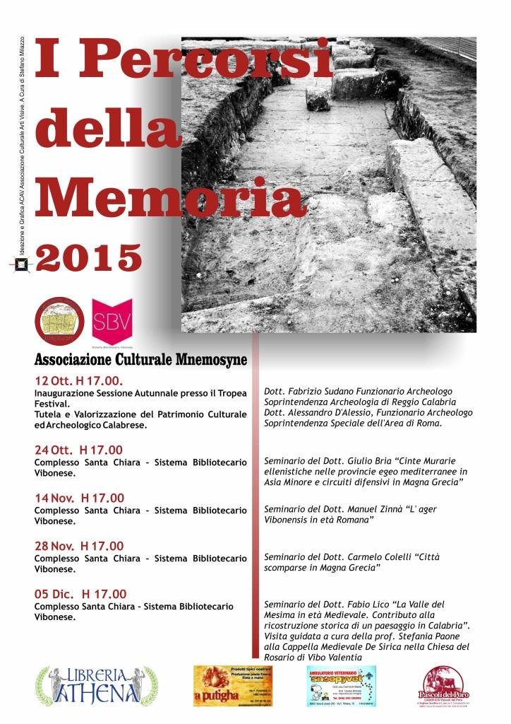 Locandina Percorsi Memoria 2015-