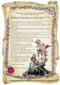 pergamena madonna nelle famiglie
