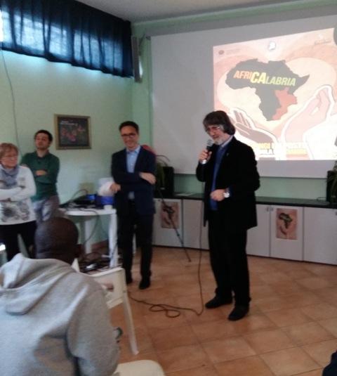 Don Mino e Alessandro Lo Bianco che ha presentato l'evento