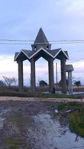 La cappella dedicata a Santa Paola in costruzione oggi