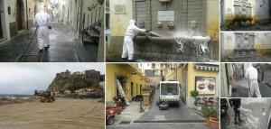 collage interventi pulizia Pizzo Pasqua 2016